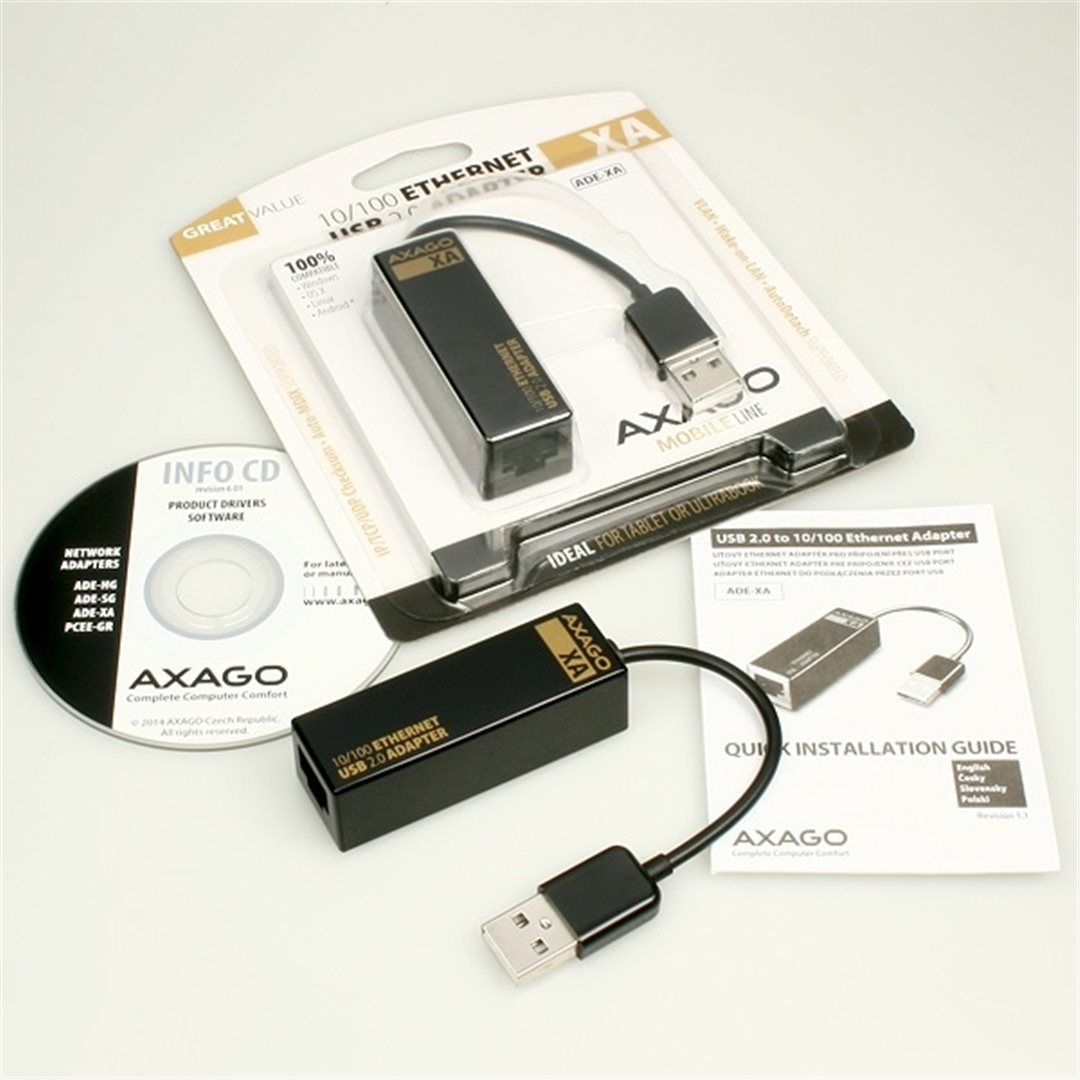 AXAGO USB ETHERNET DRIVERS FOR WINDOWS XP