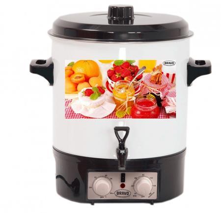 BRAVO Zavařovací Hrnec B-4500, smalt, termostat, časovač, kohout, objem 27 litrů, 1800W