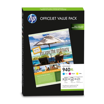 HP 940XL Officejet Brochure Value Pack, 100 listů/210 x 297 mm; CG898AE