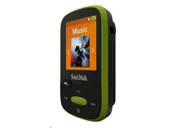 SanDisk MP3 Sansa Clip Sports 8GB limetka; SDMX24-008G-G46L