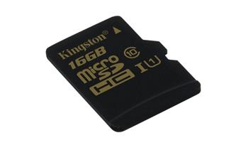 Kingston 16GB microSDHC UHS-I 90R/45W class 10 (bez adapt); SDCA10/16GBSP