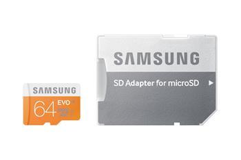 Samsung Micro SDXC 64GB EVO Class 10; MB-MP64DA/EU