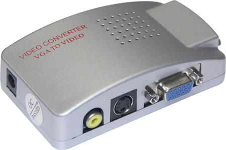 PremiumCord Převodník signálu z PC ->TV cinch + s-video konektory; a-8