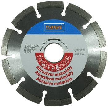 Narex Dia 125×22.2 - Diamantový řezný kotouč na abrasivní materiály svařený laserem
