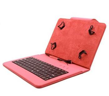 """C-TECH PROTECT NUTKC-01, červené, pouzdro univerzální s klávesnicí pro 7""""-7,85"""" tablety, FlexGrip; NUTKC-01R"""