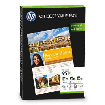 HP 951XL Officejet Value pack, 75 listů/A4/210 x 297 mm; CR712AE