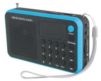 USB rádio EMGO 1505W modrá