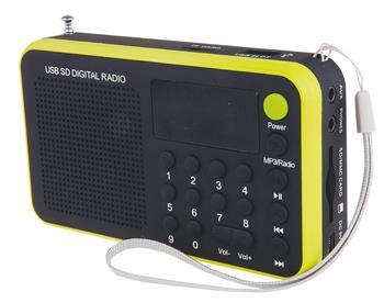 USB rádio EMGO 1505W žlutá