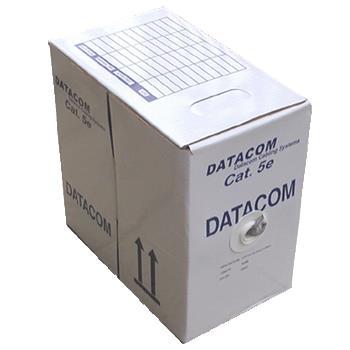 DATACOM UTP drát CAT5E PVC 305m box šedý; 1100