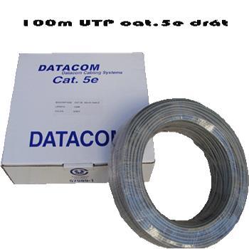 DATACOM UTP drát CAT5E PVC 100m šedý