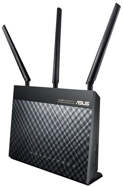 ASUS DSL-AC68U DualB VDSL2/ADSL AC1900 router; 90IG00V1-BM3G00