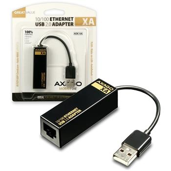 AXAGO USB2.0 - Fast Ethernet 10/100 UNI adapter; ADE-XA