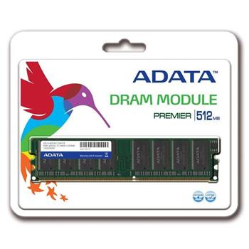 A-Data DIMM DDR 512MB, 400MHz, Retail; AD1U400A512M3-R