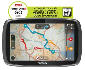 TomTom GO 5000 Europe LIFETIME mapy; 8FL5.002.07