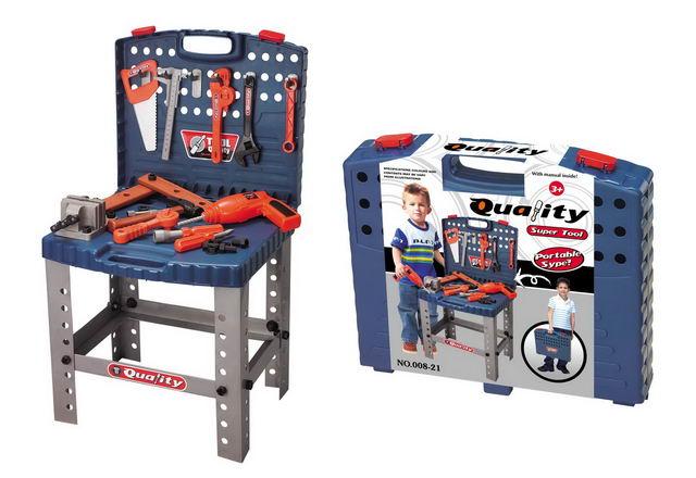 Dětský kufřík s nářadím a pracovním stolem (690400)