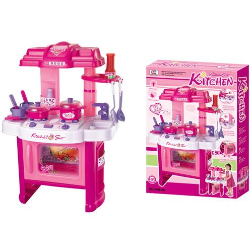 G21 Kuchyňka s příslušenstvím růžová; 690402