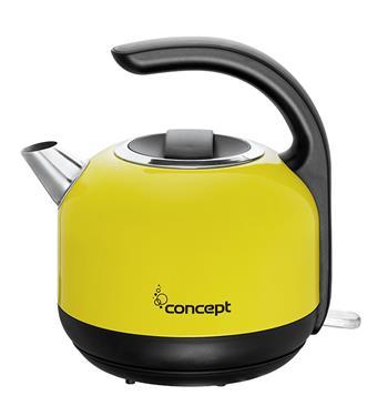 CONCEPT RK-3120ye Rychlovarná konvice nerezová žlutá čajník 1,7 l