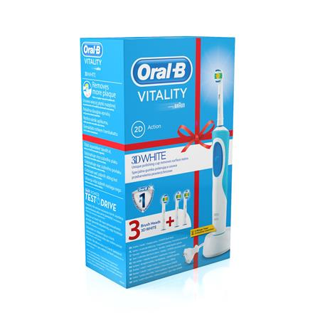 Braun ORAL-B VITALITY 3D WHITE + EB 18-2 3D WH ORAL B; D12.513 3D White + EB18-2 3D