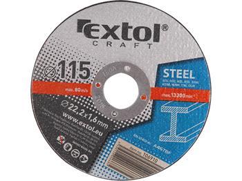 Extol kotouče řezné na kov, 5ks, 125x1,6x22,2mm, EXTOL CRAFT; 106920