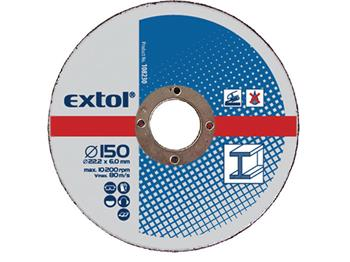 kotouče brusné na kov, 5ks, 150x6,0x22,2mm, EXTOL CRAFT