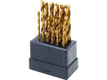 vrtáky do kovu, sada 19ks, Ř1-10mm, po 0,5mm, leštěné, ostří 118° se zlepšeným vrtacím výkonem a ve