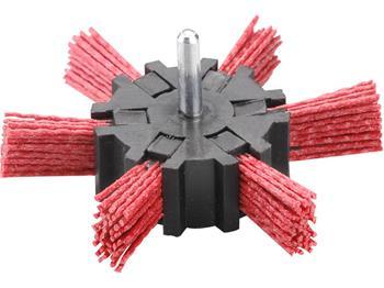 kartáč okružní leštící, Ř100mm, nylon, stopka 6mm, EXTOL CRAFT; 17060