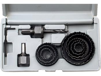 Extol vrtáky vykružovací korunkové, sada 11ks, Ř19-22-25-29-38-44-51-64mm, max. hloubka vrtu 25mm, EXTOL