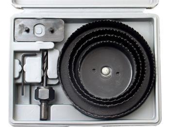 Extol vrtáky vykružovací korunkové, sada 8ks, Ř64-76-89-102-127mm, max. hloubka vrtu 25mm, EXTOL CRAFT