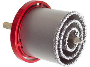 Extol vrtáky vykružovací s karbidovým ostřím, sada 3ks, Ř33-53-73mm, vodící vrták Ř10x140mm, max. hloubka; 19600