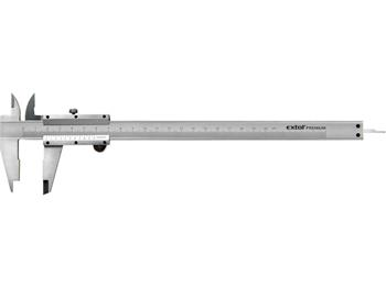 měřítko posuvné kovové, 0-200mm, rozlišení 0,05mm, dva typy čelistí pro různé typy měření, hloubkom