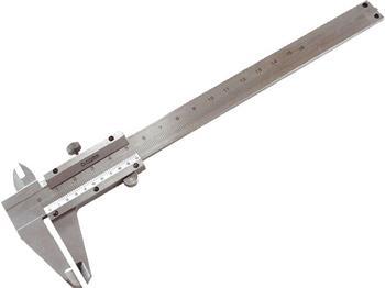měřítko posuvné kovové, 0-150mm, rozlišení 0,05mm, dva typy čelistí pro různé typy měření, hloubkom