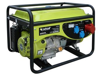 elektrocentrála benzínová 13HP, 6,0kW (400V)/2,2kW (230V), EXTOL CRAFT; 421060