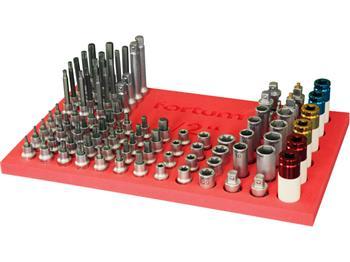 """FORTUM Gola sada 1/2Zásobník nástrčných a zástrčných klíčů 1/2"""", 86ks, naplněný, FORTUM; 4704794"""