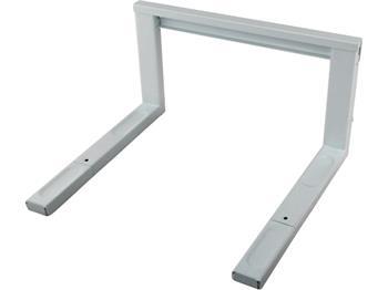 polička na mikrovlnnou troubu, kovová, bílá barva, šířka nosné lišty 43mm, nastavitelná hloubka 35,; 600036