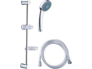 sada sprchová velká, 3funkční hlavice, držák na sprchu, hadice 150cm, držák na mýdlo, tyč, VIKING; 630305