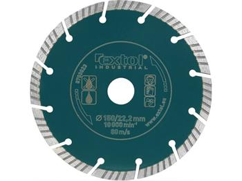 kotouč diamantový řezný segmentový Grab Cut, 150x22.2mm, suché i mokré řezání, max. hloubka řezu 40