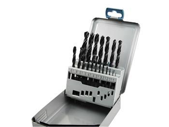 vrtáky do kovu v kovové krabičce, sada 19ks, Ř1-10mm, po 0,5mm, HSS, EXTOL PREMIUM
