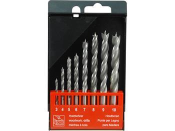 vrtáky do dřeva, sada 8ks, Ř3-4-5-6-7-8-9-10mm, CrV, EXTOL PREMIUM; 8801221
