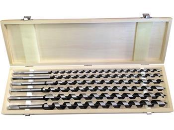 vrtáky hadovité do dřeva, sada 6ks, Ř10-12-14-16-18-20x460mm, šestihranná stopka, v dřevěné kazetě,