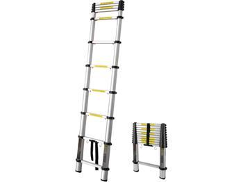 žebřík teleskopický, 3,2m, max. výška 3,2m, výška složeného žebříku 0,73m, nosnost 150kg, 11 příček