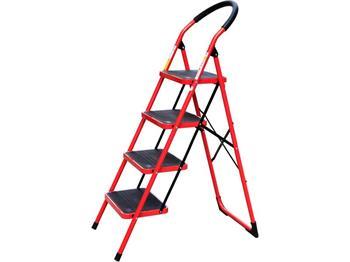 schůdky skládací ocelové, 4 stupně, nejvyšší schůdek 92cm, nosnost 150kg, vzdálenost mezi schody 25