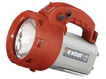 Extol svítilna nabíjecí halogenová s bočním světlem, 55W, halogenová žárovka 6V/55W typ H3, zářivka 7W, d; 8862122