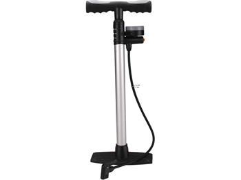 pumpa na kolo s manometrem a upouštěcím ventilem, 120 PSI/8bar, výška 57cm, průměr 35mm, EXTOL PREM