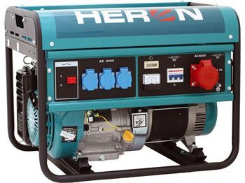 elektrocentrála benzínová 13HP, 6,0kW (400V)/2,2kW (230V), HERON, EGM 60 AVR-3