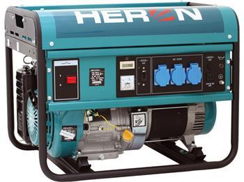 elektrocentrála benzínová 13HP, pro svařování, 5,5kW, HERON, EGM 55 AVR-1