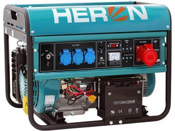 elektrocentrála benzínová 15HP, elektrický start, 6,8kW (400V)/5,5kW (230V), HERON, EGM 68 AVR-3E