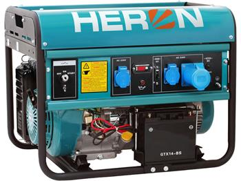 elektrocentrála benzínová 15HP, elektrický start, 7,0kW, HERON, EGM 68 AVR-1E