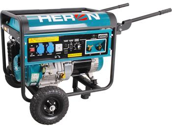 elektrocentrála se svářečkou 220A, benzínová 14HP, 5,5kW, HERON, EWH 220