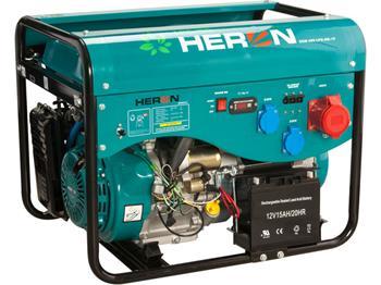 elektrocentrála benzínová a plynová (LGP/NG) 13HP, elektrický start, Benzín 5,3kW(400V)/2x2,1kW(230