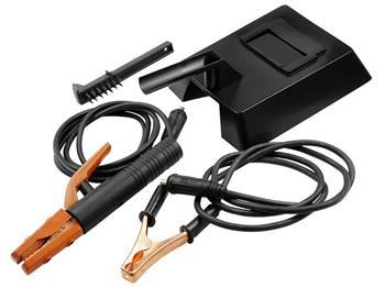 příslušenství pro svařovací zdroje do 110A, svářecí kukla, kartáč, uzemňovací svorka 2m, držák elek; 8898020